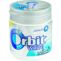 ORBIT BOTTLE WHITE FRESH MINT 84G